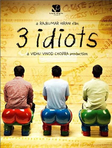 The 3 Idiots poster.