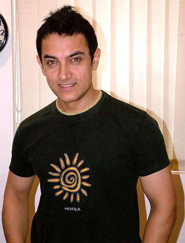 Bollywood star Aamir Khan.