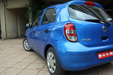 Rear view of Micra