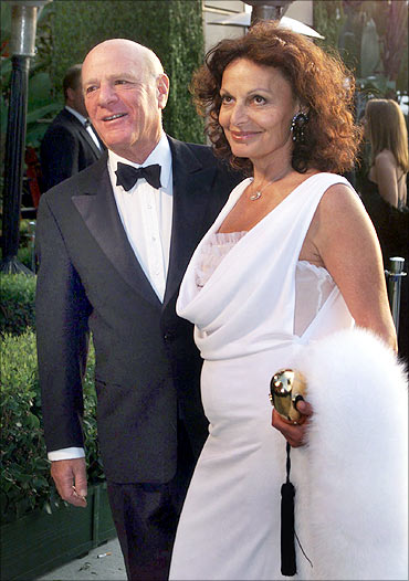 Barry Diller, chairman of USA Networks Inc, and wife Diane von Furstenberg.