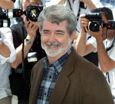 Hollywood director and creator of Star Wars and Indian Jones films George Lucas.