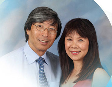 Patrick Soon-Shiong with wife Michele Chan.