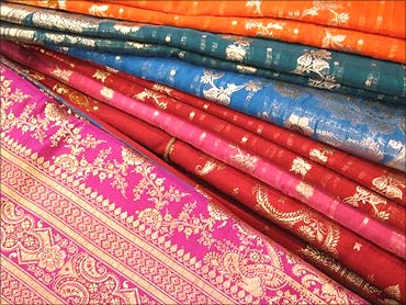Silk sarees from Benares.