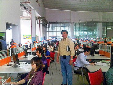 A BPO in China.