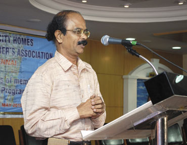 G Krishnamurthy, President, Sahara City Homes (Chennai) Members Association.