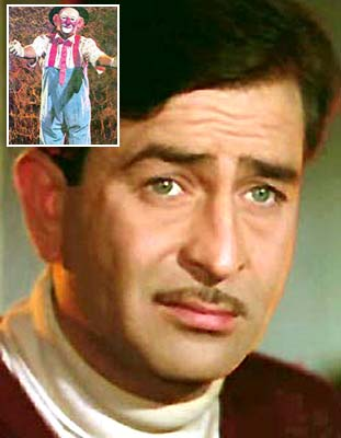 Raj Kapoor. (Inset) A still from Mera Naam Joker.