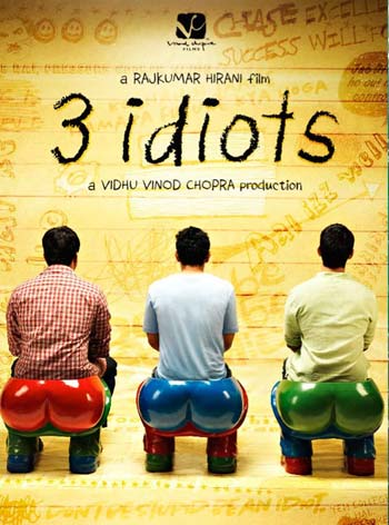 A poster of the film 3 Idiots.