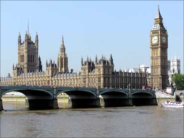 The British Parliament and Big Ben in London.