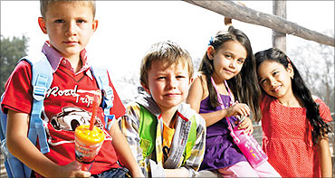Children wearing Lifestyle clothes.