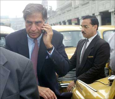 Ratan Tata caught in a traffic jam in Kolkata.