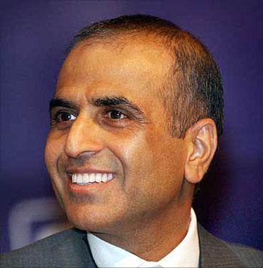 Bharti chairman Sunit Bharti Mittal.