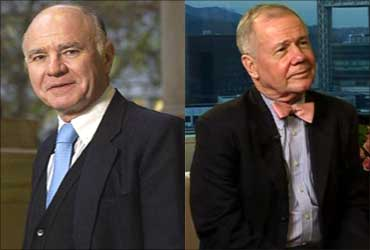 From L-R: Marc Faber and Jim Rogers.