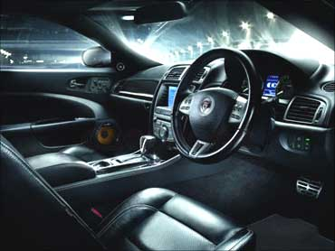 Jaguar XKR interior.