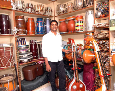P Muthulingam at his shop.