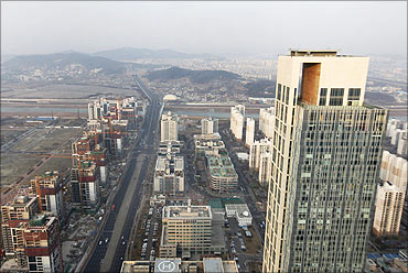 The Songdo International Business District in Incheon.