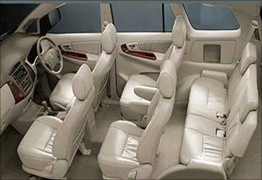 Interior of Toyota Innova.