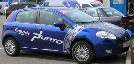The Grande Punto sells less than 1,500 units a month.