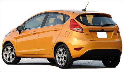 Rear view of Ford Fiesta.