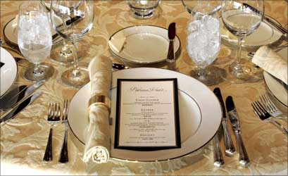 The menu and place setting.