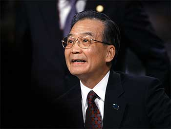 China's Prime Minister Wen Jiabao.