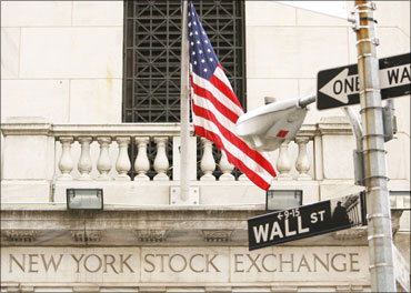 The New York Stock Exchange on Wall Street in New York.