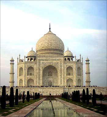 The magnificent Taj Mahal in Agra.