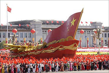 A parade in Beijing.