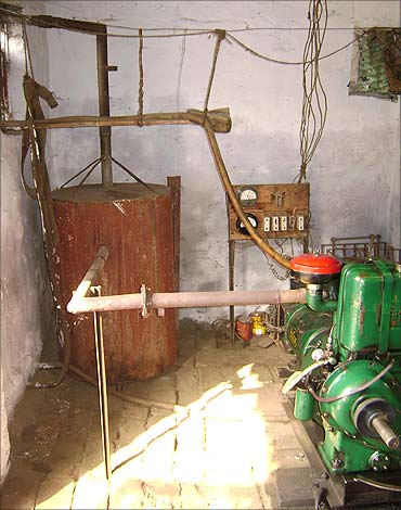 pollution controlling device attached to the genset.