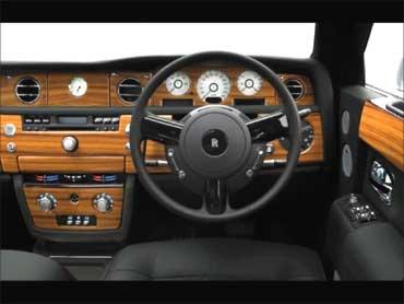 Interior of a Rolls.