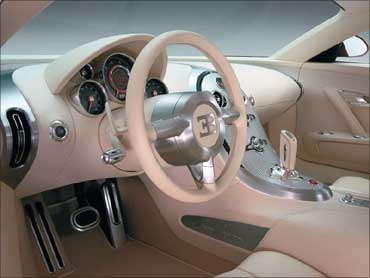 Dasgboard of Bugatti.