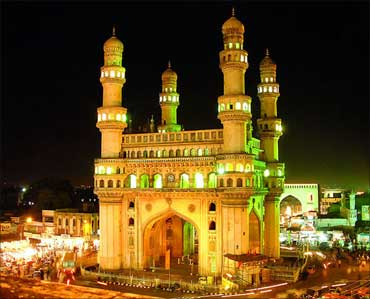 The Charminar in Hyderabad.