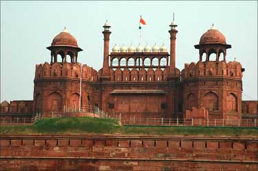 The Red Fort in Delhi.