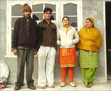 Dharamveer with his family.