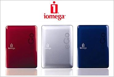 Iomega eGo portable hard drive.
