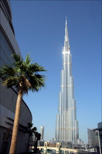 The Burj Khalifa in Dubai.