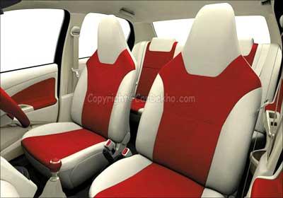 Toyota Etios front seats.