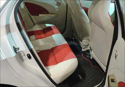 Toyota Etios rear seats.