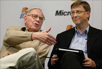 Warren Buffett and Bill Gates.