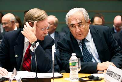 Robert Zoellick and Dominique Strauss-Kahn.