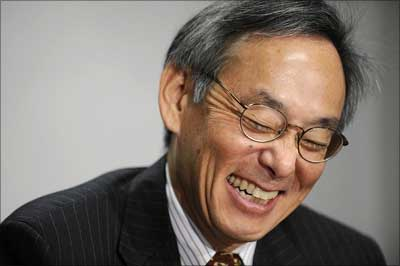 Steven Chu, US energy secretary.