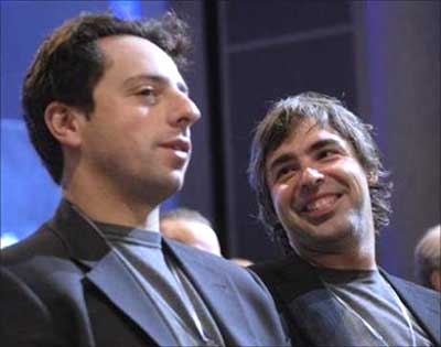 Larry Page and Sergey Brin.
