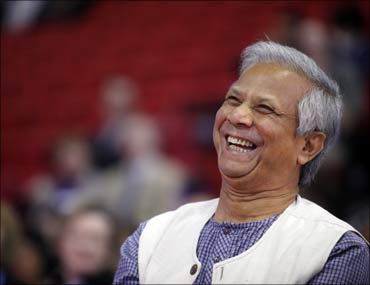 Bangladeshi Nobel laureate Muhammad Yunus.