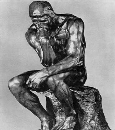 Rodin's The Thinker.