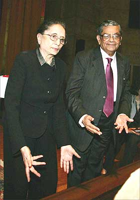 Padma Desai with her husband, economist Jagdish Bhagwati.
