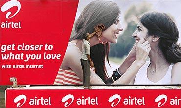 Bharti Airtel's new logo.