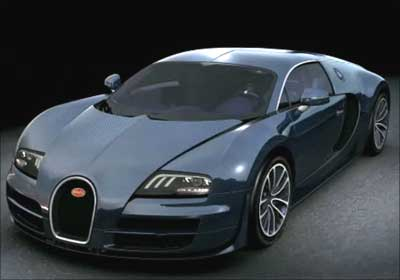 Side view of Bugatti Veyron.
