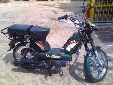 TVS moped.