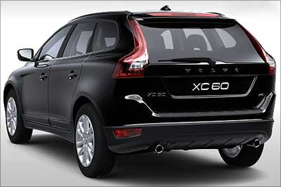 Rear view of Volvo XC60.