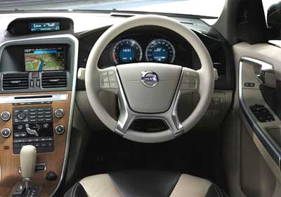 Interior view of Volvo XC60.