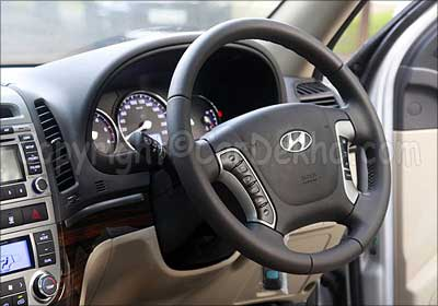 Steering wheel of Santa Fe.